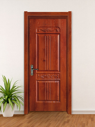 YK-613 Waterproof WPC Material Interior Door
